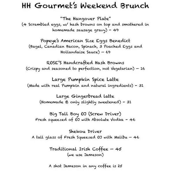 【HH Gourmet】Weekend Brunch