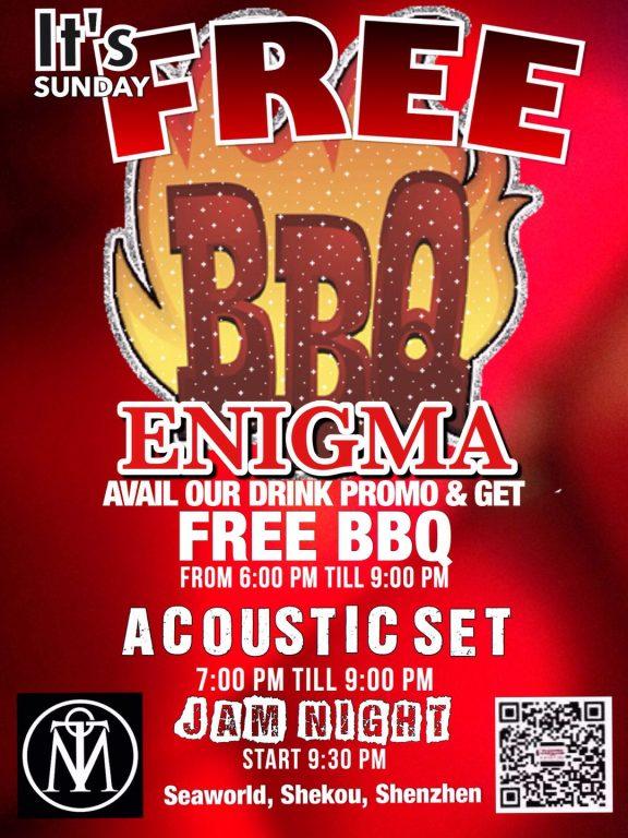 【Enigma】Sunday FREE BBQ
