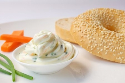 【HH Gourmet】Bagel with Cream Cheese (15元)